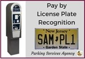 Pay by license plate recognition