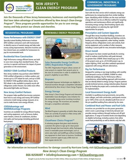 BPU clean energy program flyer